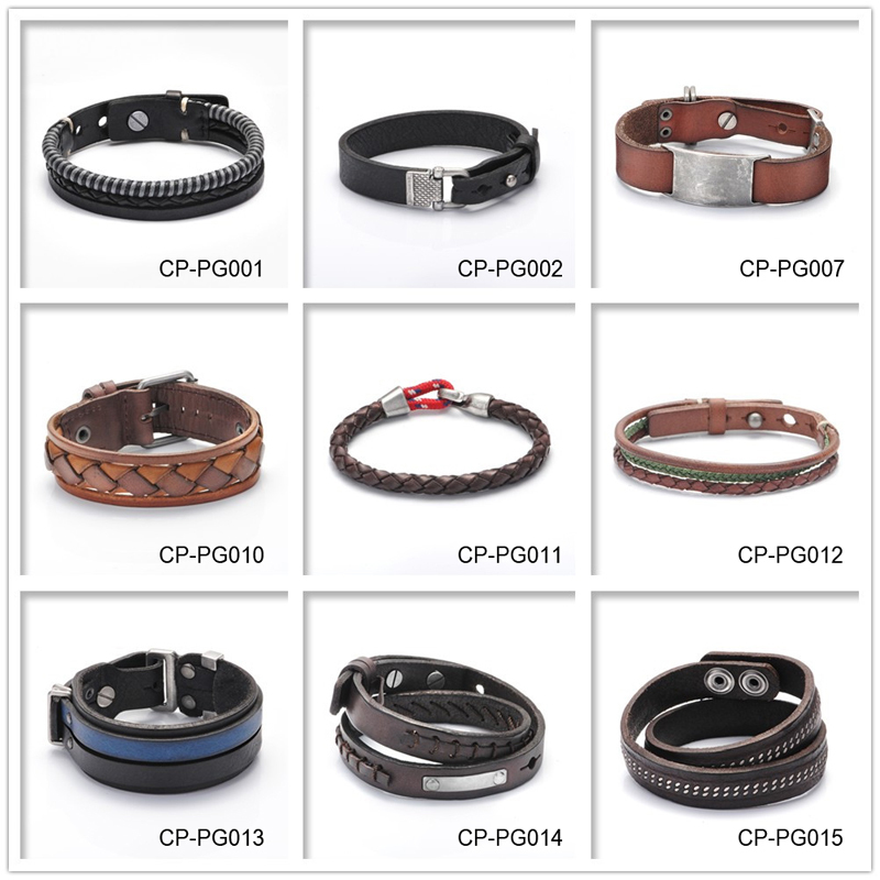 New Personalized Color Leather Wrap Bracelets With Logo