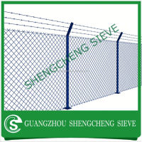 Galvanized and PVC Coated high quality triangular bending chain link fence