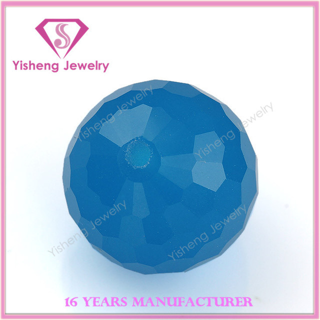 Wholesale Bead 3D Cut Face Sapphire Price Teardrop Glass Beads In Hole