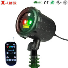 CE UL Outdooor Christmas Lighting AC100~240V Red Green Programmable LED Laser Light