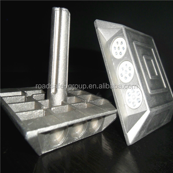 double-side 21 glass beads Aluminum Road Stud