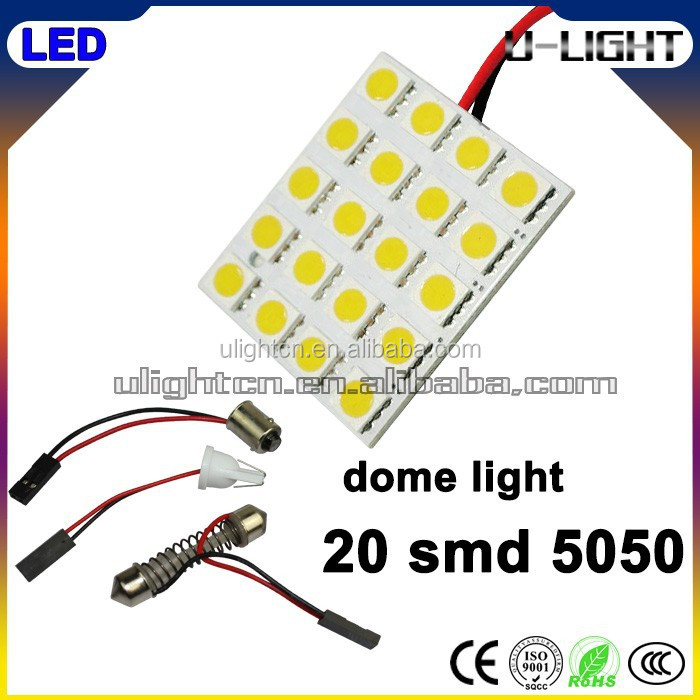 High quality car roof led lights 20smd 5050 led bulb lights for cars different colors led dome light