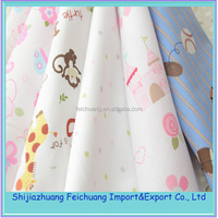Good handfeeling cute design cotton bed sheet for kids