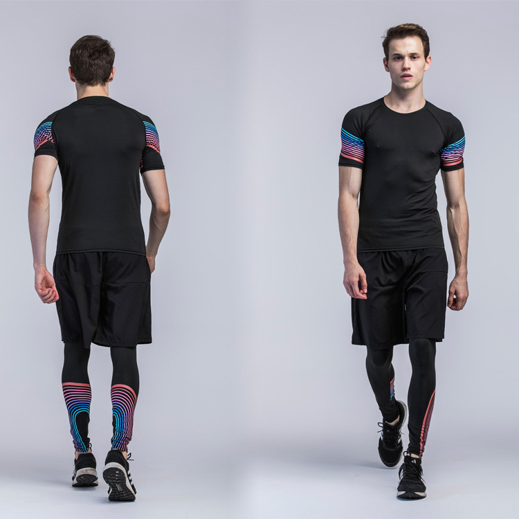 Popular sports gym fitness wear clothing gym shirt and leggings men