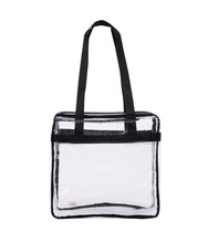 pvc Clear Stadium Zippered Security beach tote bag