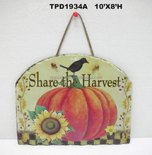 Pumpkin Wall Sign Plaque Harvest Slate Fall Thanksgiving Decor
