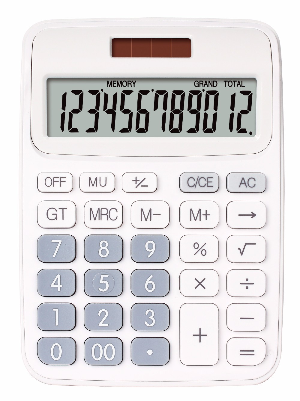 Calculator 12 digits High quality 12 digit Office used solar plastic calculator  Eates CX-116C