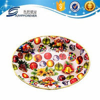 Eco-Friendly Reclaimed Material Oval Fruit Silver Plated Serving Trays