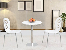 White round dining table and chair for restaurant/leisure area(FOH-BC35)