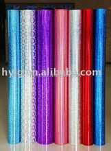 holographic color hot stamping foil for fabric,textile