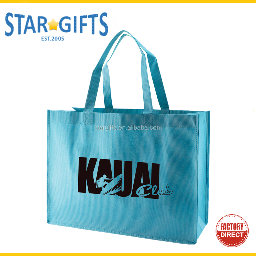 Custom Cheap Pricing Eco Recycled Reusable Farmers Market PP Non Woven Shopping Bag With Logo Printing