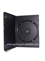 China factory low price with good quality 14mm plastic black dvd case/dvd box