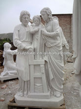 Church Religious Marble Jesus Holy Family Sculpture