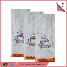 Wholesale 100% cotton waffle embroidery tea towel for promotion