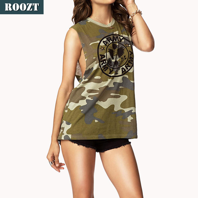 Summer Women Design Tops Camo Hunting Camouflage Clothing