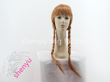 China manufacturer wig pigtails with high quality pigtails double braid hair