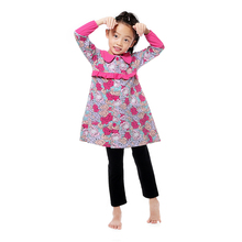 Classic Style Peter Pan Collar Printed Little Girls Coat