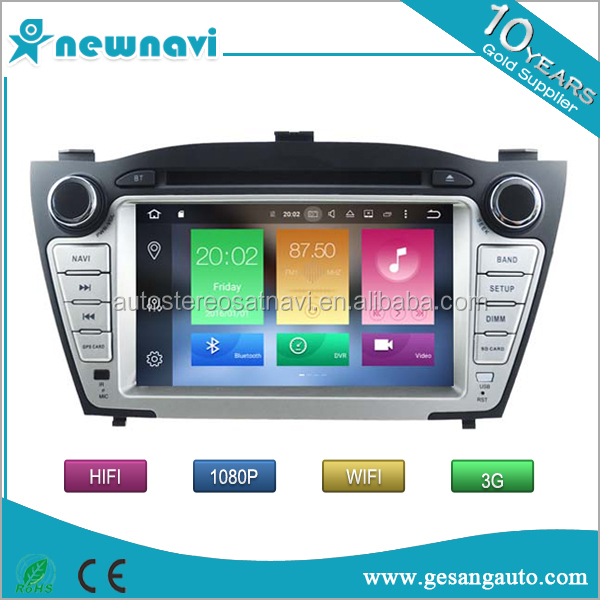 Newnavi new platform 1080P HD Auto android car dvd, touch screen 2 din car gps navigation for Hyundai iX35 2009-2013