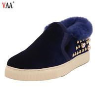 CF-166 Winter Factory Casual Design Genuine Leather Lining Sheepskin Lady Winter Shoes For Women,Women Moccasins