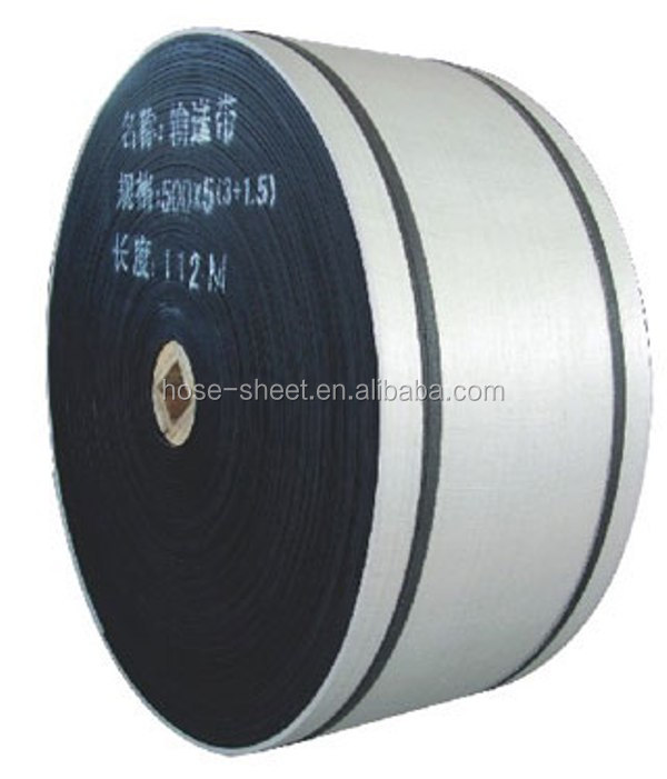 Oil resistant rubber conveyor belt EP500/4 (4+2)2000mm