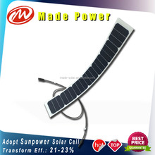 21Wp monocrystalline Sunpower bending semi flexible solar panel for boat car