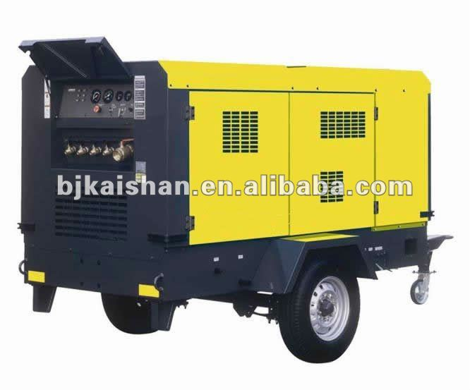 KAISHAN LGCY-22/20 for tunnel Diesel Driven Portable Screw Air Compressor for drill rig