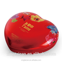 Heart shape empty tinplate valentines gift box packaging box hot tin box