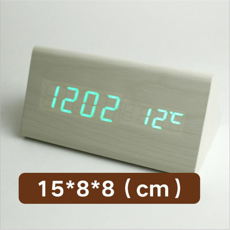 Alarm Table wood Clock