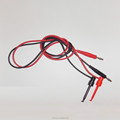 1Pair Black and Red Silicone Banana Plug To Test Hook Clip Probe Cable Fr Multimeter Test Equipment
