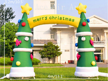 free fans 4mW outdoor christmas tree inflatable arch for decoration holiday events