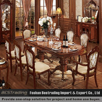 classic european style dining table,antique dining table,solid wood antique dining table