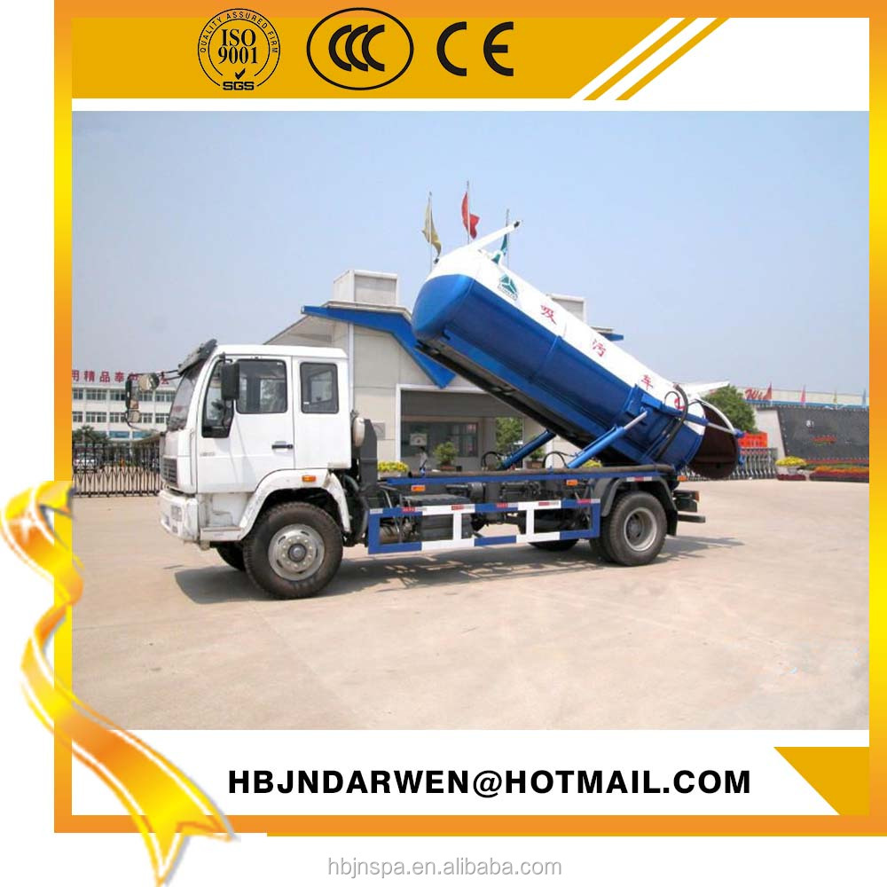 vacuum Suction sewage truck , 10000L sewage suction tanker truck