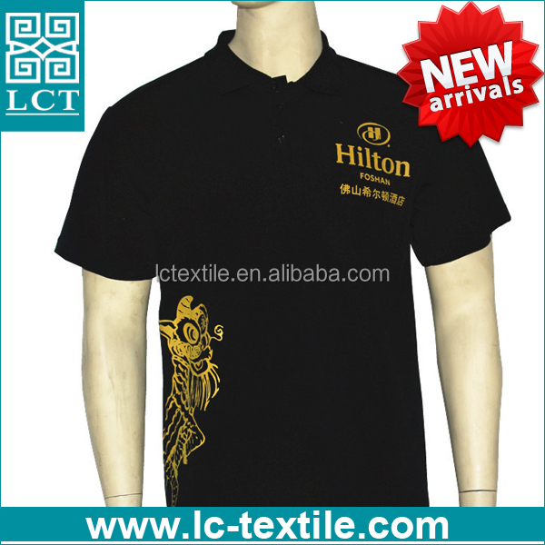 New Arrival high quality 220gsm cotton customized uniform polo shirt for Hilton hotel