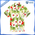 Hawaii Hangover Hawaiian Shirt Aloha Shirt in Cream with Red Calla Lily