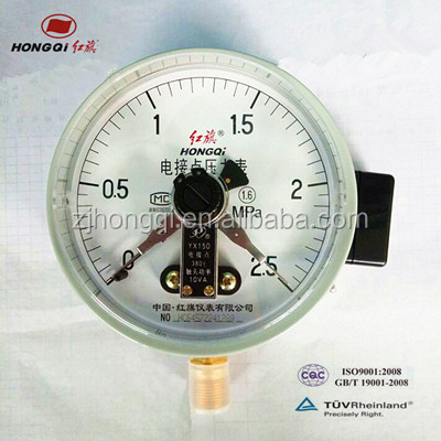 bourdon tube compound gauges pressure gauge with alarm