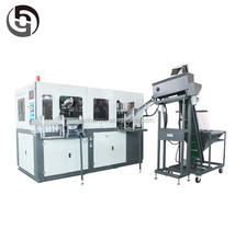 2 cavity automatic plastic blow molding machine with optical fiber cable blowing machine