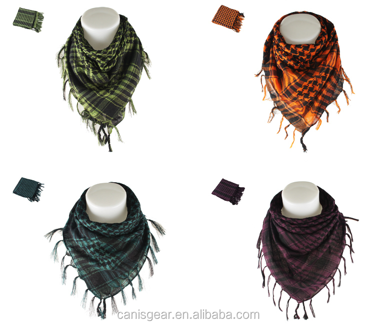 Newest wonderful Military Tactical Desert Scarf Keffiyeh Cotton Shemagh Scarf