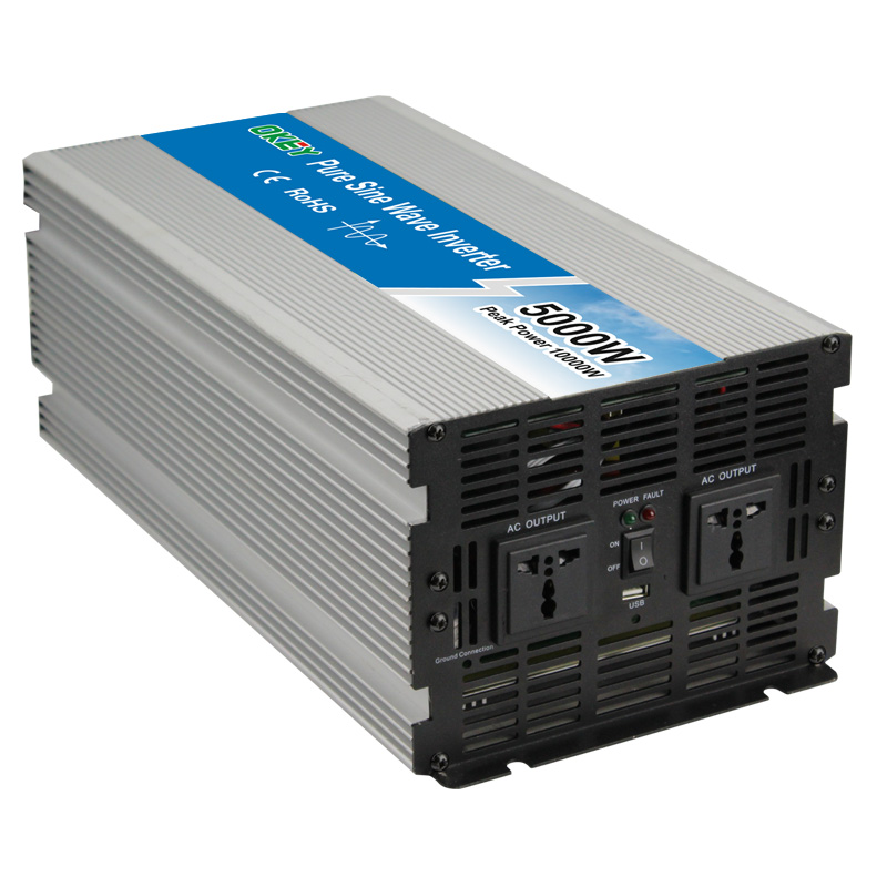 5000w power inverter 12v 24v 48v dc input ac output pure sine wave solar inverter