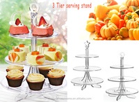 Factory produce 3-layer wedding display crystal cake stand