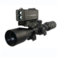 NEW LE-032 optic rifle scope laser rangefinder left side mounted scope riflescope with adjustable base
