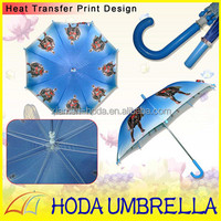 picture sex with carton children umbrella/safty transparent umbrella
