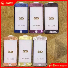 Best Selling 3D Diamond Colorful Screen Protector Tempered Glass Mirror Effect Cover for iPhone 6