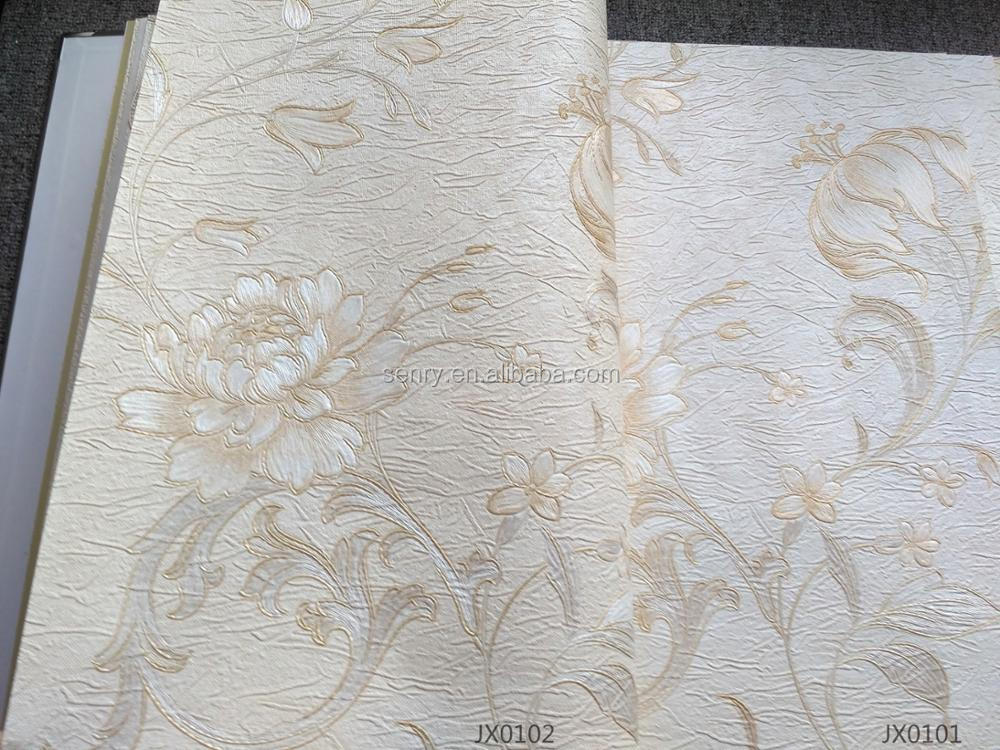 factory in China flower design thick vinyl moisture resistant wallpaper