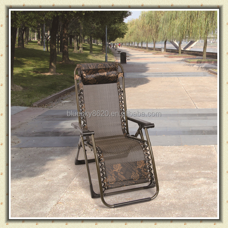 Zero Gravity square metal tube luxury folding leisure beach garden deck lounge reclining chair BS-085
