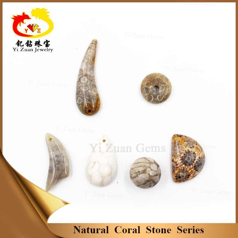 Customized special shape natural coral jade