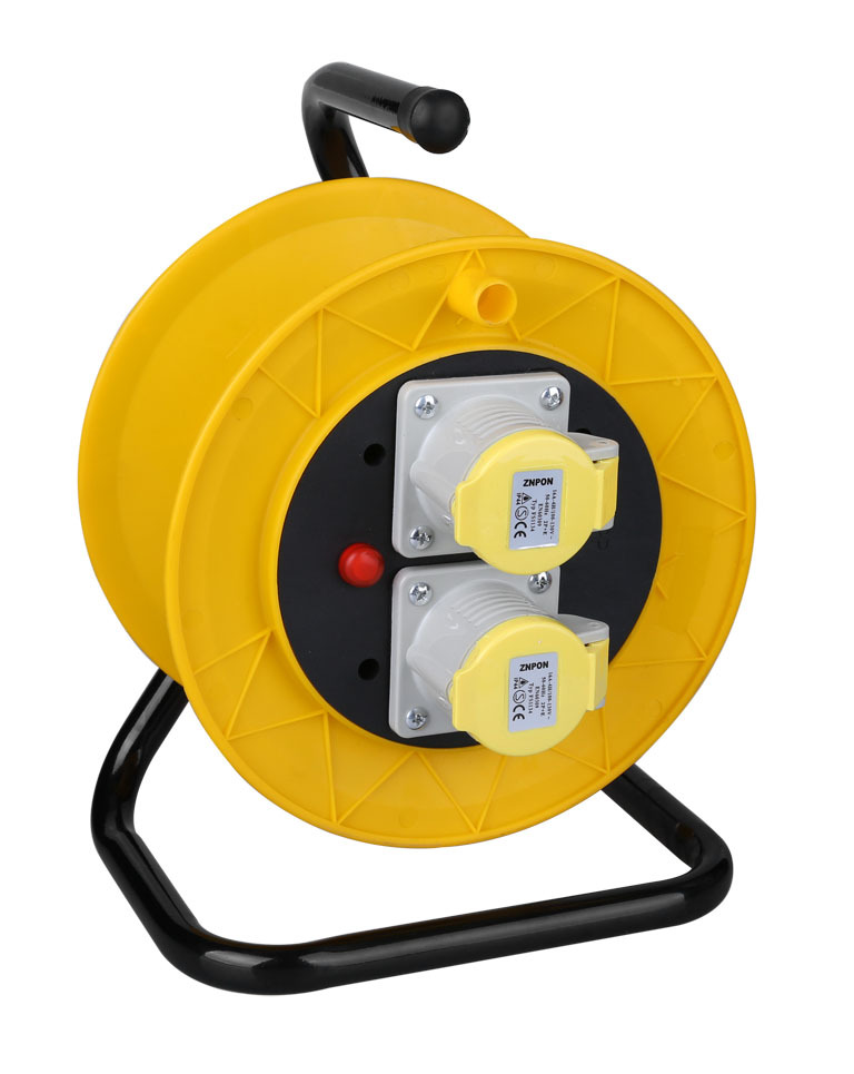 European Cable Reels 2-Socket Cable Reels W/CEE plug&sockets