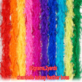 60 grams chandelle turkey feather boa decoration