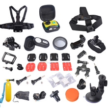 Xiaomi Yi Accessories kit with Xiaomi Yi Bluetooth Remote Controller+ camera bag+bike Roll Bar Mount for xiaomi yi accessories