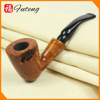 Hot selling wooden tobacco pipe engraved briar smoking pipe