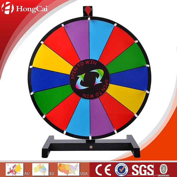 "18"" Dry Erase Tabletop Prize Wheel, Promotional Spinning Game Wheel of Fortune"
